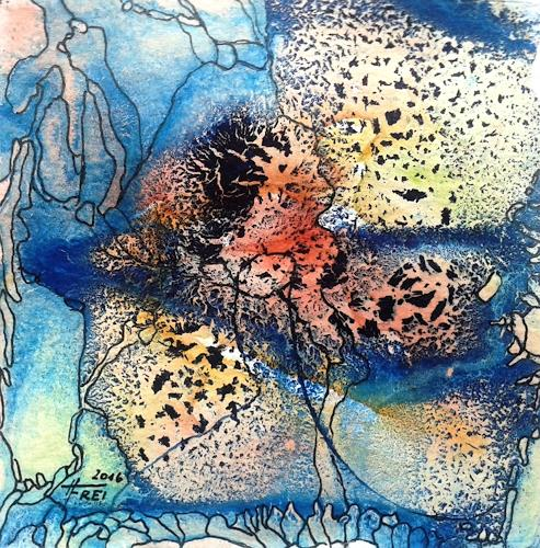 Helga Freiberger, Farbrausch IV, Abstraktes, Gefühle, Abstrakte Kunst, Expressionismus