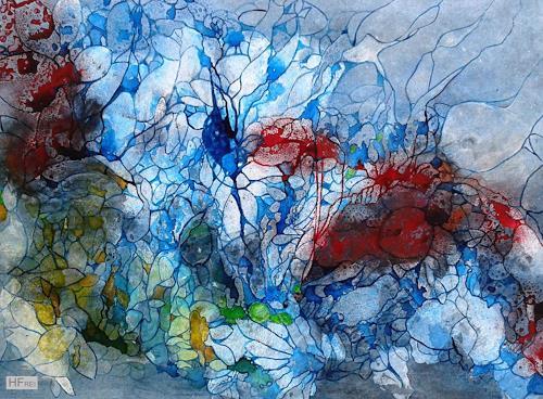 Helga Matisovits, Strömungen, Natur: Wasser, Tiere: Wasser, Abstrakte Kunst, Expressionismus