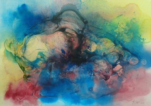 Helga Matisovits, FREIHEIT - eine schwere Geburt, Gefühle, Bewegung, Abstrakte Kunst, Expressionismus