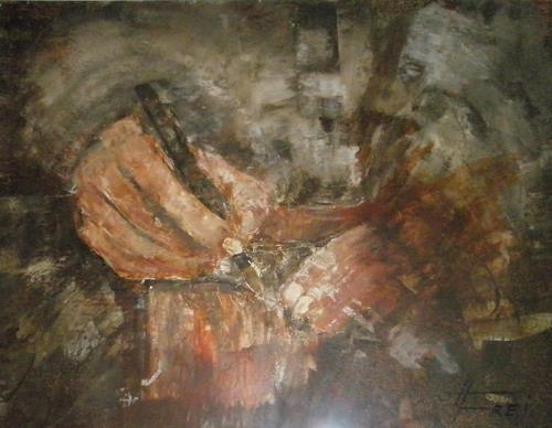 Helga Matisovits, Die Unterschrift, Situationen, Diverse Menschen, Expressionismus, Abstrakter Expressionismus