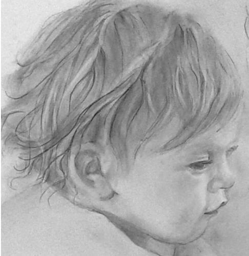 Helga Matisovits, Portraitstudie 1, Menschen: Porträt, Menschen: Kinder, Realismus, Expressionismus