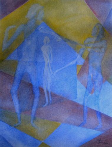 Helga Matisovits, Dreieck, Menschen, Menschen: Gruppe, Abstrakte Kunst