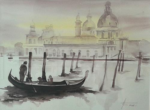 Helga Matisovits, Venedig, Landschaft, Natur, Abstrakte Kunst