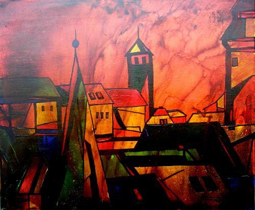 Helga Matisovits, città vecchia, Bauten, Architektur, Abstrakte Kunst