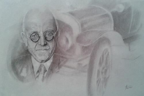 Helga Matisovits, Horch/Audi - Rückblick 1910, Menschen: Porträt, Verkehr: Auto, Abstrakte Kunst