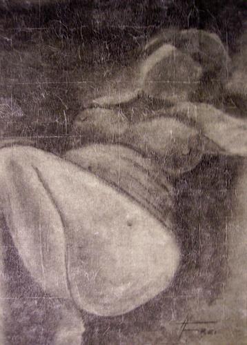 Helga Matisovits, Akt liegend, Menschen: Frau, Akt/Erotik: Akt Frau, Abstrakte Kunst
