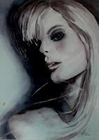 Helga-MATISOVITS-Menschen-Frau-Menschen-Portraet-Moderne-Abstrakte-Kunst