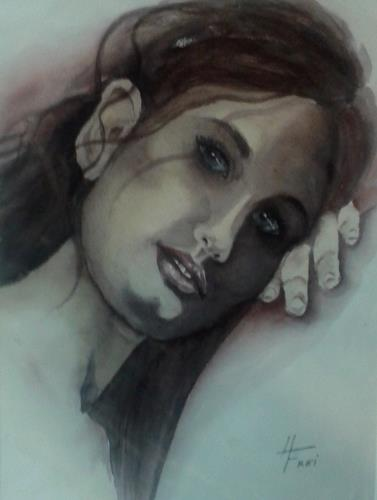 Helga Matisovits, Emotionen IV, Menschen: Frau, Menschen: Porträt, Abstrakte Kunst