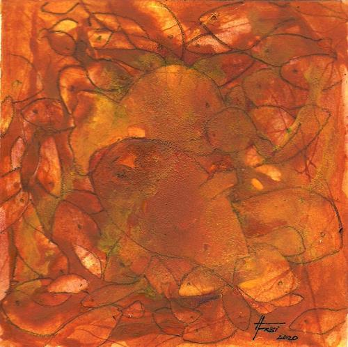 Helga Matisovits, Fischig V, Natur: Wasser, Natur: Feuer, Abstrakte Kunst, Expressionismus