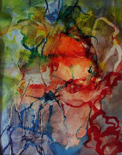 Helga Matisovits, Maskenball, Menschen, Gefühle, Abstrakte Kunst, Abstrakter Expressionismus