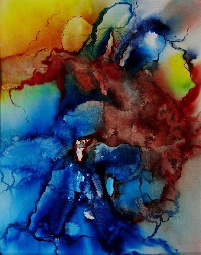 Helga Matisovits, Februarwind, Natur: Luft, Bewegung, Abstrakte Kunst