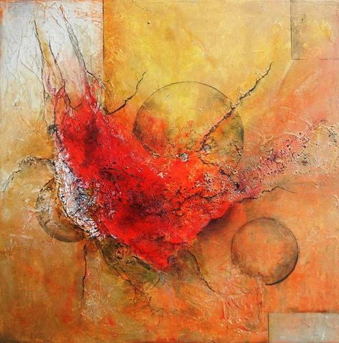Antoinette Luechinger, Universum / universe, Weltraum: Gestirne, Fantasie, Abstrakter Expressionismus