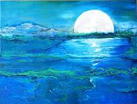 Antoinette-Luechinger-Landschaft-See-Meer-Natur-Wasser-Moderne-expressiver-Realismus