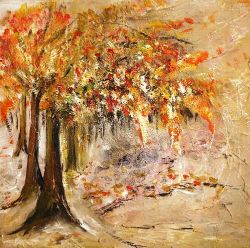 Antoinette Luechinger, Herbst, Landschaft: Herbst, Realismus, Expressionismus