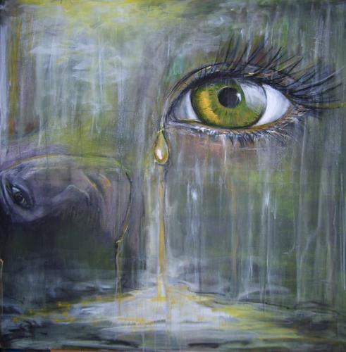 Sabine Brandenburg, Augenblick, Diverse Gefühle, Natur: Wasser, Abstrakter Expressionismus