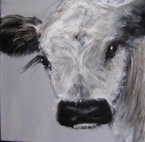 Sabine Brandenburg, Galloway, Tiere: Land, Diverse Tiere, Gegenwartskunst, Expressionismus