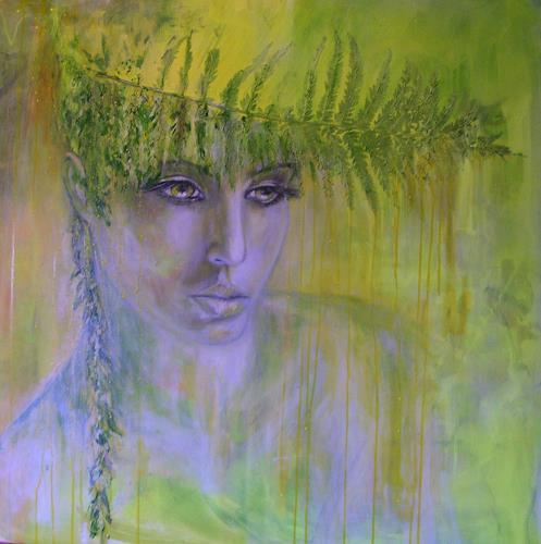 Sabine Brandenburg, Farn, Natur: Wald, Menschen: Frau, Gegenwartskunst