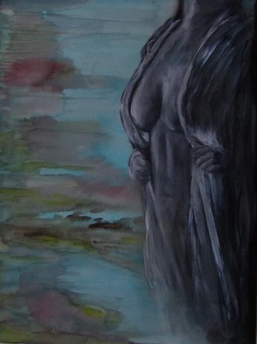 Sabine Brandenburg, o. T., Natur: Wasser, Menschen: Frau, Gegenwartskunst
