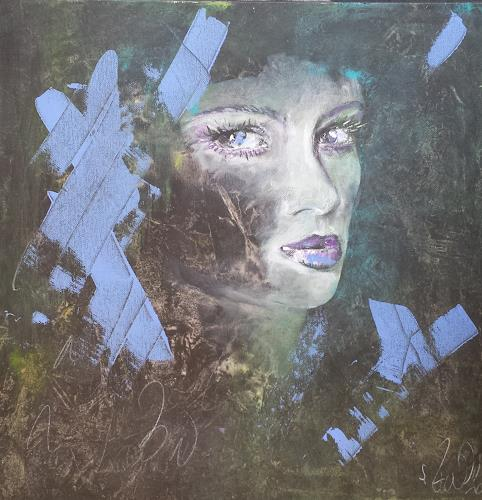 Sabine Brandenburg, o.T., Menschen: Gesichter, Menschen: Frau, Gegenwartskunst, Expressionismus