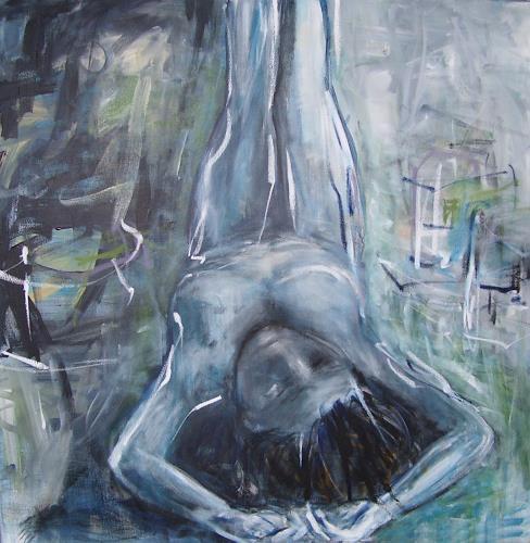 Sabine Brandenburg, blue, Menschen: Frau, Menschen: Porträt, Abstrakter Expressionismus, Expressionismus