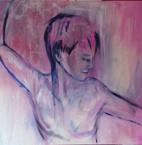 Sabine Brandenburg, Akt pink, Menschen: Frau, Akt/Erotik: Akt Frau, Gegenwartskunst, Expressionismus