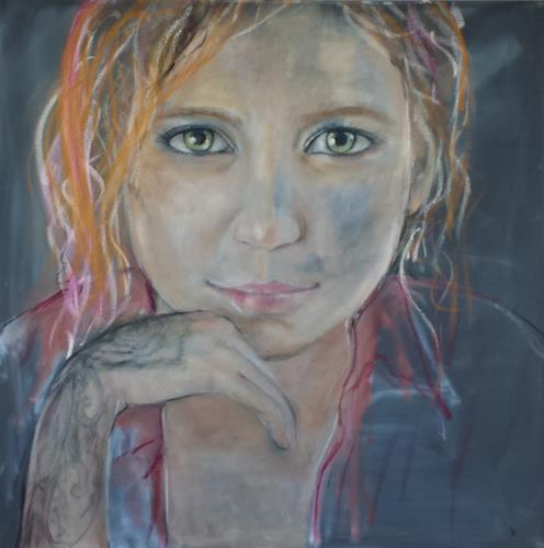 Sabine Brandenburg, Tattoo, Menschen: Gesichter, Menschen: Frau, Gegenwartskunst