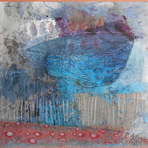 Franziska Schmalzl, Casting der Erdbeeren, Essen, Naive Kunst, Expressionismus