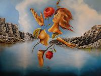 Peter-Richter-Akt-Erotik-Akt-Frau-Diverse-Erotik-Gegenwartskunst-Postsurrealismus