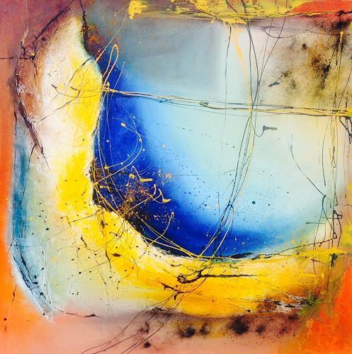 Ursi Goetz, Banane löst sich auf..., Abstraktes, Expressionismus