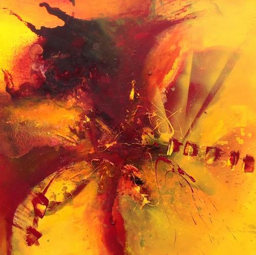 Ursi Goetz, Feurige Herausforderung, Abstraktes, Abstrakter Expressionismus