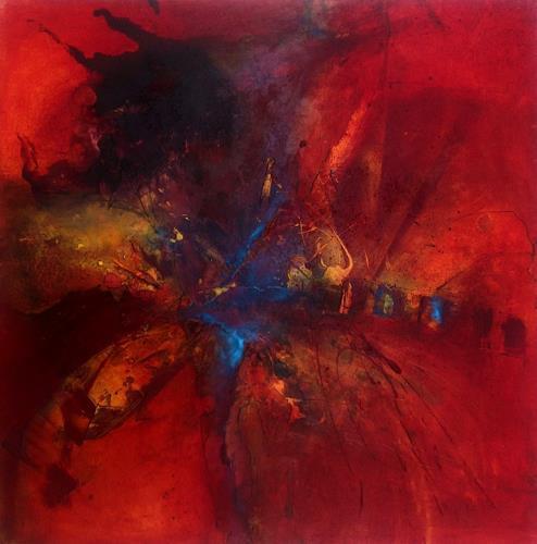 Ursi Goetz, Die Blüte des Augenblicks, Abstraktes, Bewegung, Abstrakter Expressionismus