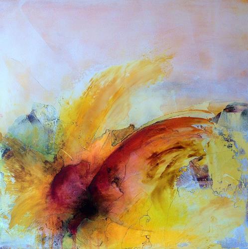 Ursi Goetz, Mitten ins Herz, Gefühle, Fantasie, Abstrakte Kunst, Expressionismus