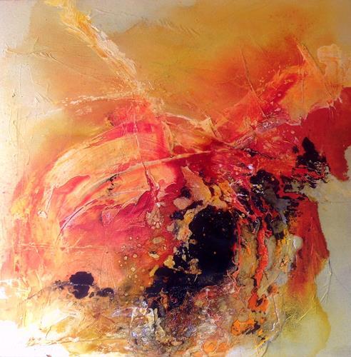 Ursi Goetz, Nach dem Dunkel kommt das Licht, Bewegung, Abstraktes, Expressionismus