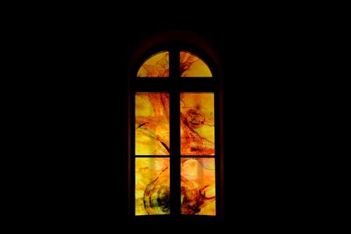 Ursi Goetz, Fensterbild fotografiert, Abstraktes, Expressionismus