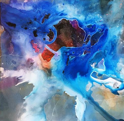 Ursi Goetz, Magische Spuren, Mythologie, Abstraktes, Abstrakte Kunst, Expressionismus