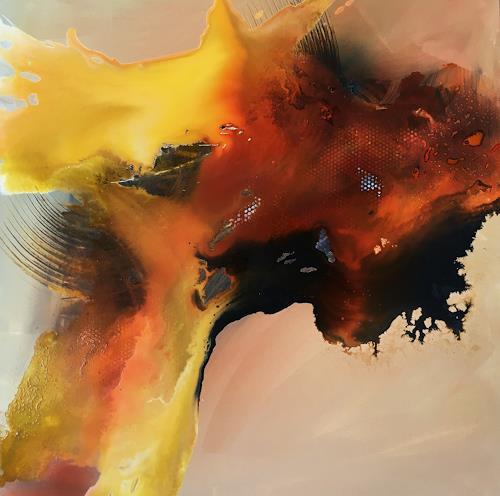 Ursi Goetz, Sehnsucht nach Frieden ll, Gefühle, Abstraktes, Abstrakte Kunst, Expressionismus