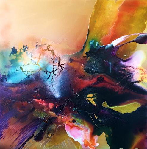 Ursi Goetz, Das Erste, Gefühle, Bewegung, Abstrakte Kunst, Abstrakter Expressionismus