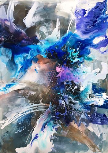 Ursi Goetz, Ich bin was ich nicht bin, Abstraktes, Mythologie, Abstrakte Kunst, Expressionismus