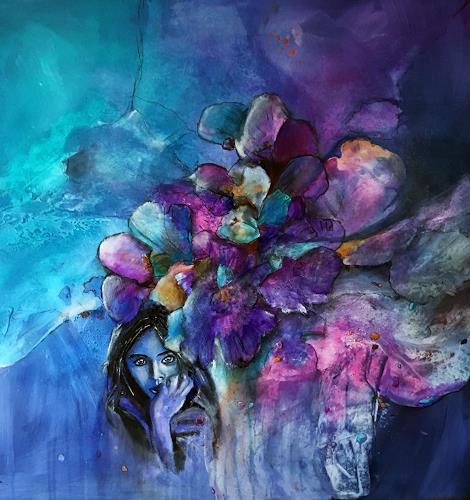 Ursi Goetz, Blumen sind das Lächeln der Erde (III), Pflanzen: Blumen, Action Painting