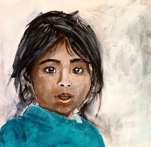 Ursi Goetz, Mädchen, Menschen: Kinder, Gegenwartskunst