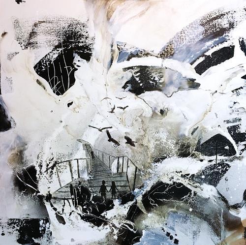 Ursi Goetz, Der Weg ins Nichts, Landschaft, Abstraktes, Abstrakte Kunst, Abstrakter Expressionismus