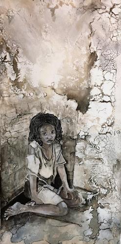 Ursi Goetz, Was tut ihr, Menschen: Kinder, Gegenwartskunst, Expressionismus
