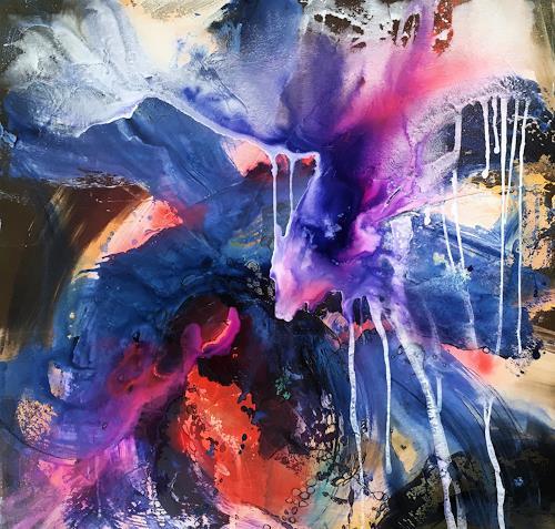 Ursi Goetz, Ursprung, Abstraktes, Fantasie, Action Painting, Abstrakter Expressionismus
