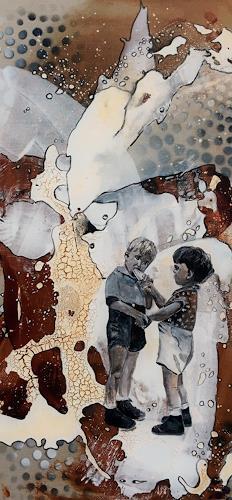 Ursi Goetz, Teilen, Menschen: Kinder, Action Painting, Expressionismus