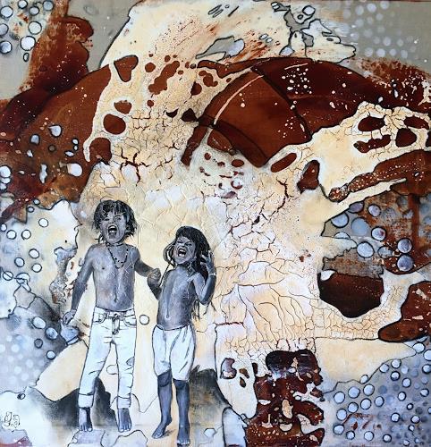 Ursi Goetz, Freischreien, Menschen: Kinder, Abstraktes, Aktionskunst, Expressionismus
