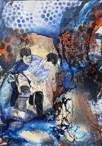 Ursi Goetz, Schwingen, Menschen: Kinder, Abstraktes, Aktionskunst, Expressionismus