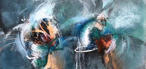 Ursi Goetz, Wieder mal abstrakt, Abstraktes, Abstraktes, Action Painting