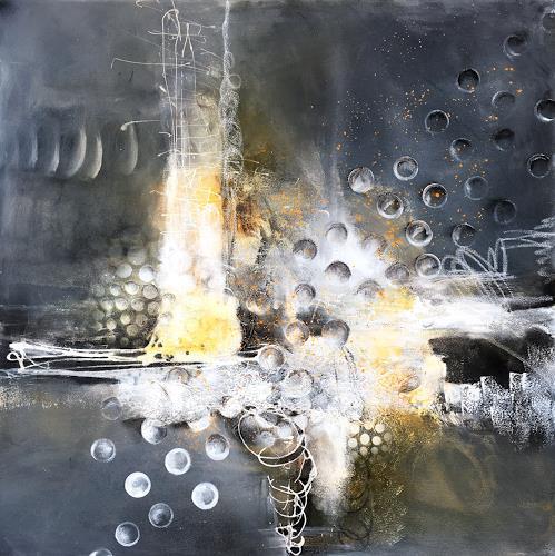 Ursi Goetz, Eistrauben, Abstraktes, Action Painting, Abstrakter Expressionismus
