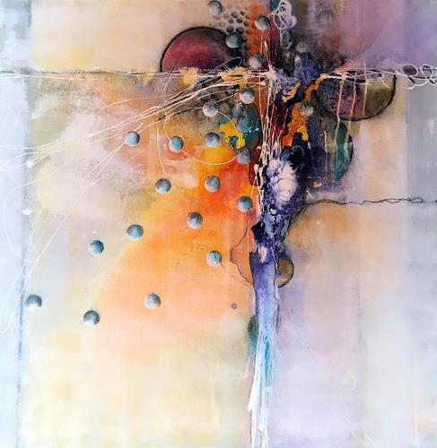 Ursi Goetz, Ohne Titel, Abstraktes, Action Painting, Abstrakter Expressionismus