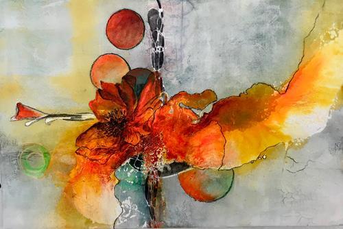 Ursi Goetz, Neues Leben, Pflanzen, Abstraktes, Action Painting, Expressionismus